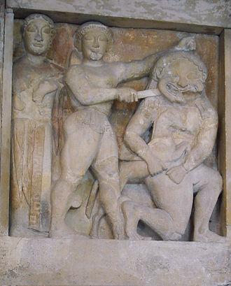 Gorgon -  Perseus killing Medusa