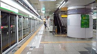 Yongsan station (Daegu Metro) - Station platform