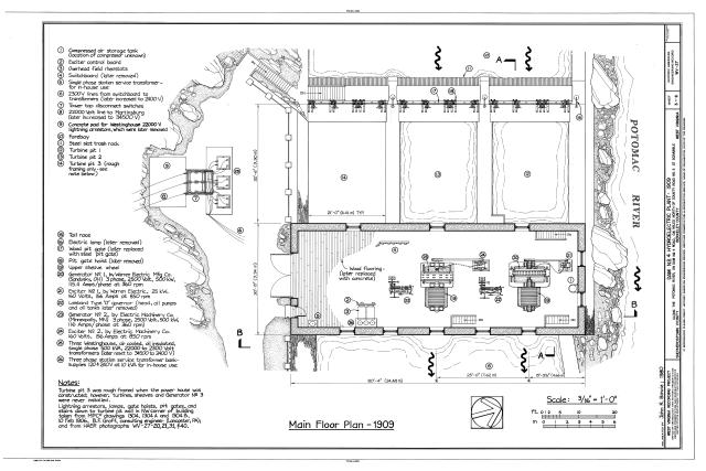 file dam no  4 hydroelectric plant  potomac river