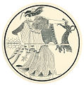 Dancing Maenad; after a white-ground tondo from an Attic red-figure kylix (8270481988).jpg