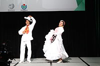 Dancing at the Wikimania 2015 Opening Ceremony IMG 7583.JPG