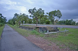 North Australia Railway - One of the only remains of the railway in Darwin is of an old platform in the suburb of Winnellie