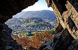 Blick vom Teufelsloch auf Altenburg