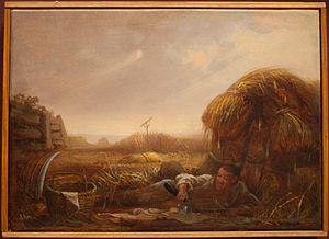 1863 in art - Image: David Gilmour Blythe Man Eating in a Field
