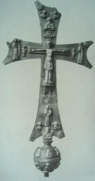 David III of Tao - A processional cross of David of Tao by the goldsmith Asat