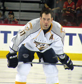 Nashville Predators - David Legwand is the franchise leader in goals and points, and was the final member of the inaugural team to retire or move.