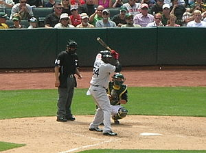 David Ortiz - Ortiz waits for a pitch in 2010
