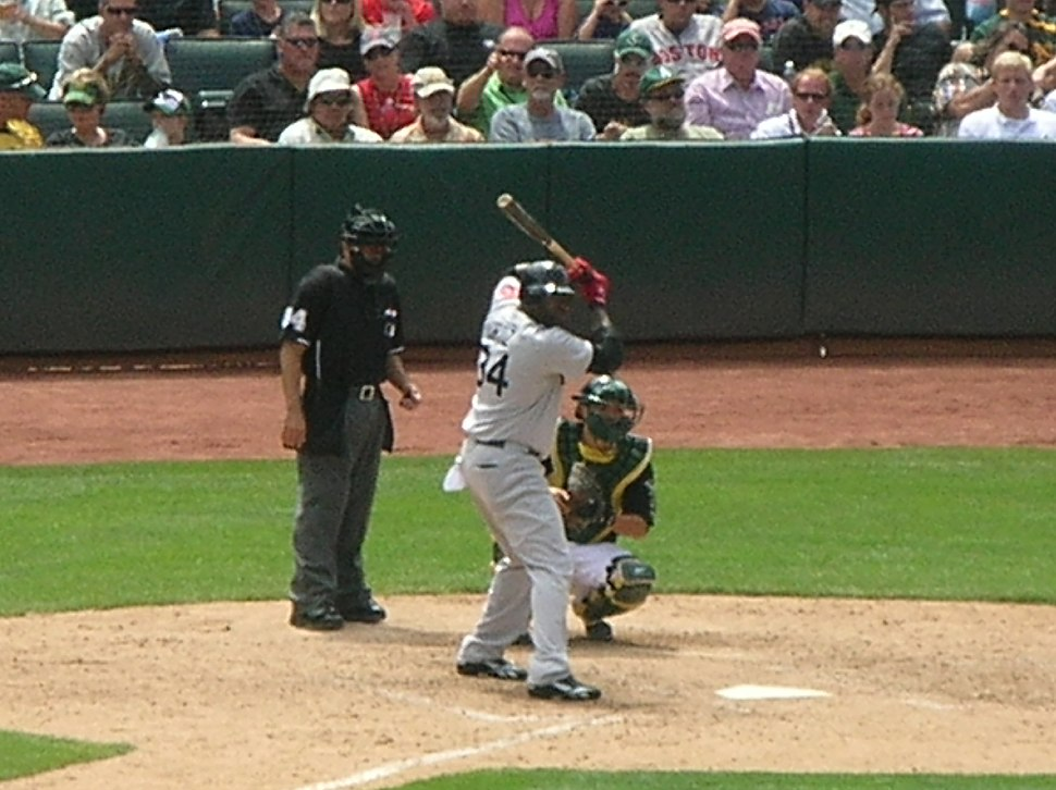 David Ortiz at bat at Red Sox at A's 2010-07-21 3