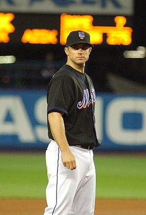 David Wright wearing the Mets' alternate colors