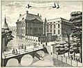 De brug over de omgrachting van het Binnenhof gezien naar de Mauritspoort.jpg