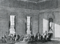 De readmissie van Van der Capellen in de vergadering van ridderschap en steden van Overijsel op 1 november 1782. Anonieme ets. Rijksprentenkabinet, Amsterdam..png