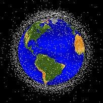 Débris spaciaux - désorbitation de satellites en fin de vie, etc. 204px-Debris-LEO1280