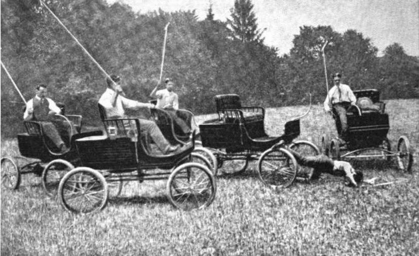Dedham Polo Club auto polo in 1902