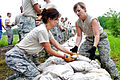 Defense.gov News Photo 110610-F-UP142-010 - Air Force airmen lay sandbags to protect against possible flooding from the Missouri River outside Rosecrans Memorial Airport St. Joseph Mo. on.jpg