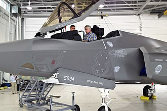 33d Operations Group - Image: Defense Secretary Chuck Hagel sits in an F 35A Lightning II joint strike fighter aircraft on Eglin Air Force Base, Fla., July 10, 2014, during a two day trip to visit bases in the South 140710 D xxxx M 003c