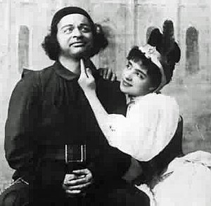 W. H. Denny - Denny with Jessie Bond in The Yeomen of the Guard, 1888