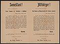Depesche von Kaiser Karl an Bürgermeister Dr. Tavčar - Mitbürger! - Laibach - Mehrsprachiges Plakat 1916.jpg