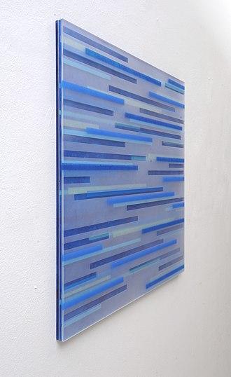 Achim Zeman - Image: Detail 1 Tafelbild blau ohne Titel Jahr 2012