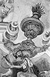 detail gewelfschildering david met harp - sint gerlach - 20077563 - rce