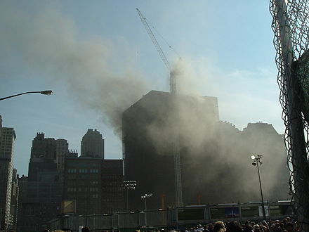 View of the building during the fire of August 18, 2007 Deutsche Bank Building fire 8-18-07 09.jpg