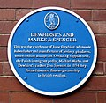 Dewhirst's Marks and Spencer blue plaque.jpg
