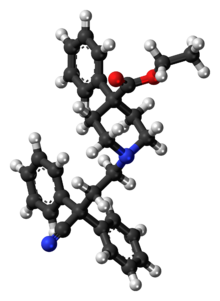 Ball-and-stick model of diphenoxylate