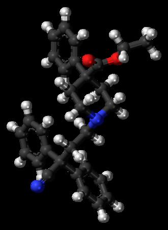 Diphenoxylate - Image: Diphenoxylate molecule ball