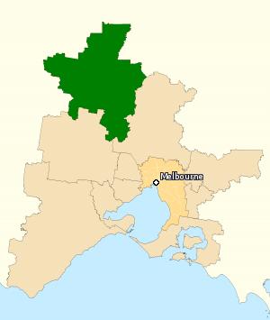Division of Bendigo - Division of Bendigo in Victoria, as of the 2016 federal election.