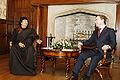 Dmitry Medvedev with Muammar Gaddafi-1.jpg