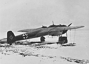 Dornier Do 17 - Do 17Z in the Soviet Union, winter 1941-42. The image provides a clear view of its sleek, pencil-like, outline.