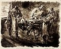 Doctors Attending a Wounded Soldier in a Shattered Building behind the Rhine - Immediately after the crossing, 1945 Art.IWMARTLD5279.jpg