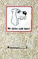 Dogs must stay outside, cemetery Herzogenburg 01.jpg