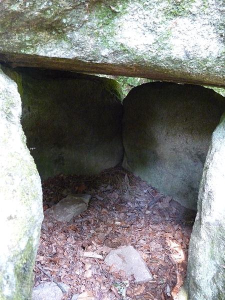 Dolmen de Lesvariel: vue de l'intérieur