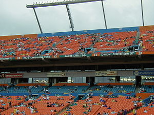 Larry Little - Little on the Miami Dolphins Honor Roll at Dolphin Stadium