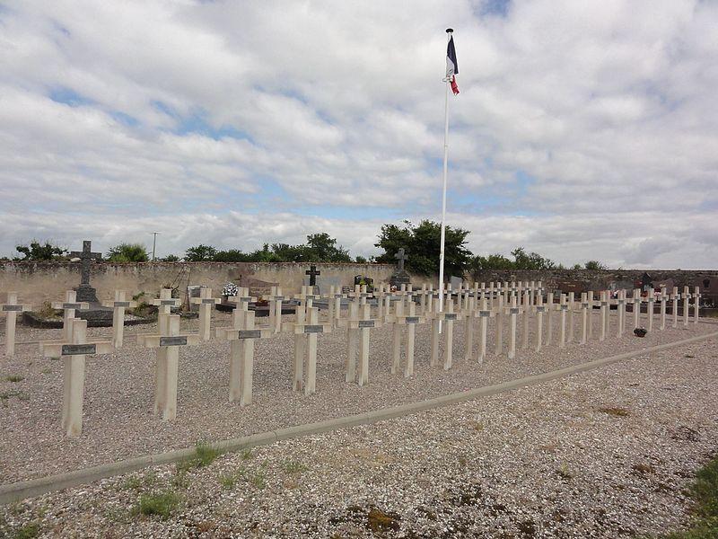Domjevin (M-et-M) cimetière, carré militiaire