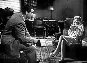Double Indemnity (film) - Fred MacMurray and Barbara Stanwyck in Double Indemnity