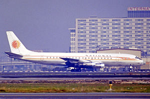 National Airlines (1934–1980) - National Douglas DC-8 at Los Angeles International Airport (1971)