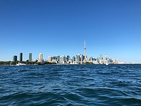 Downtown of Toronto, side view from a kayak (September 2018).jpg