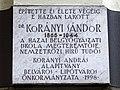 Dr Korányi Sandor plaque - Váci Utca 42, Budapest.jpg