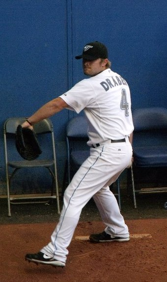 Kyle Drabek with the Blue Jays during the 2010 season. Drabek was acquired by the Jays in a multi-player trade involving Roy Halladay. Drabek pic.jpg