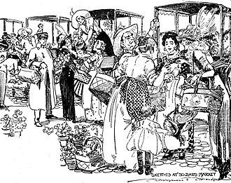 Soulard, St. Louis - 1921 drawing of Soulard Market by Marguerite Martyn
