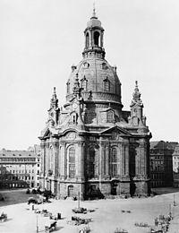 Frauenkirche Dresden pada tahun 1880