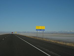 English: Interstate 80 in western Utah, remind...