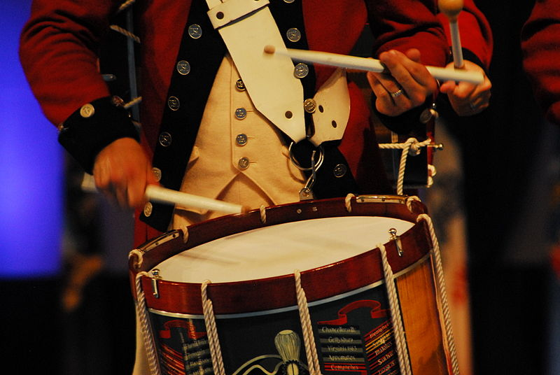 File:Drummer in The Old Guard Fife and Drum Corps 50th Anniversary Tattoo.jpg