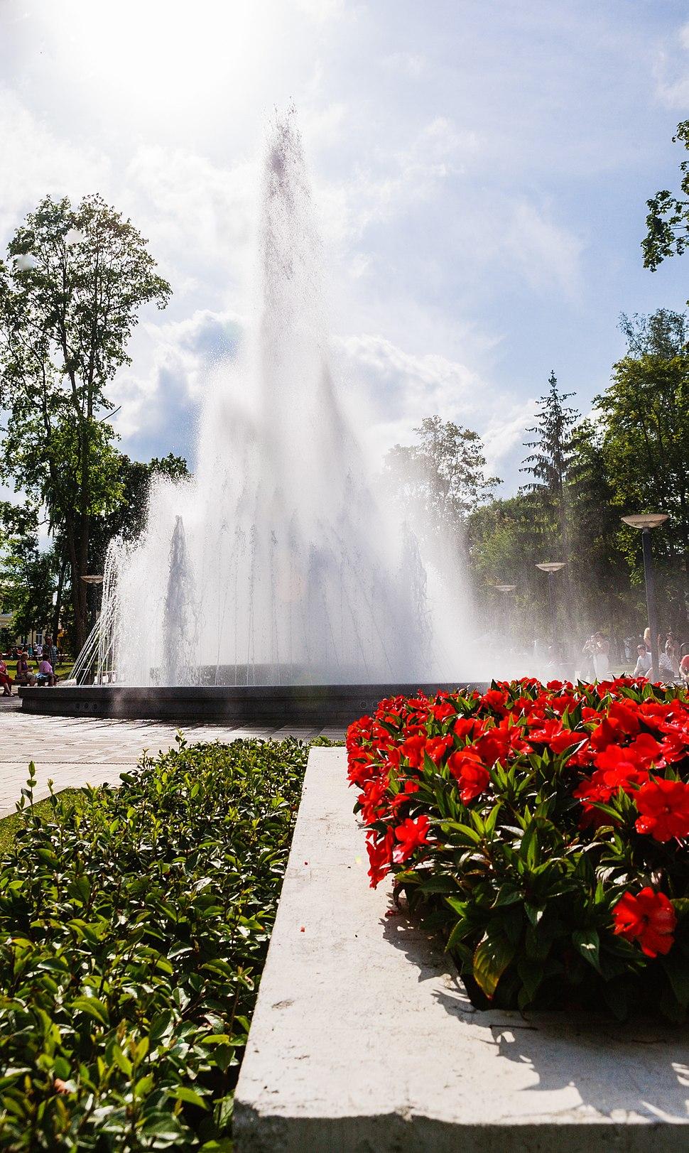 Druskininkai great fountain