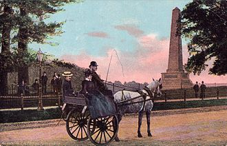 Phoenix Park - Phoenix Park. Outside car (Jaunting car). Postcard, c. 1905