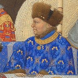 Jean de Berry, profil issu des très riches heures du Duc de Berry