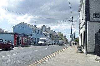 Dunkineely Village in Ulster, Ireland