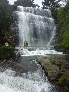 Dunsinane Falls waterfall in Nuwara Eliya District of Sri Lanka