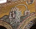 Duomo di Monreale, interno, mosaici con storie bibliche. Annuncio del diluvio a Noè. - panoramio.jpg